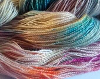 Chalk Dust hand dyed superwash bfl nylon sock 4ply