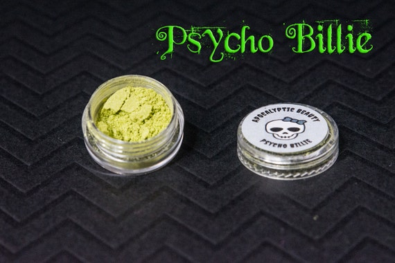 Psycho Billie - yellow-green vegan eyeshadow