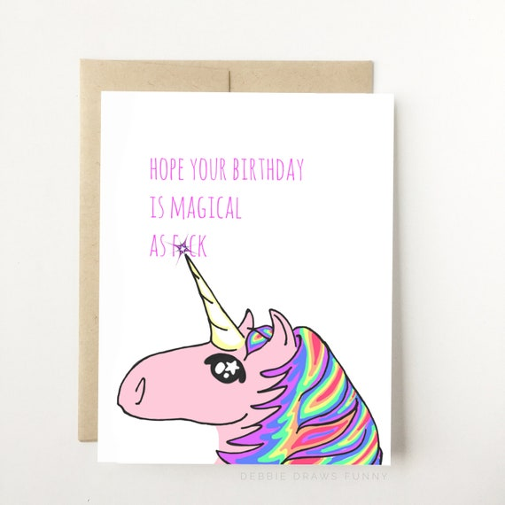Hope Your Birthday Is Magical A F Unicorn Birthday Card – Birthday Cards for Best Friend