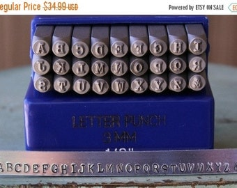 Spring Sale 3mm Typewriter Font Metal Alphabet Letter Uppercase Set - Metal Design Stamp - Perfect For All Metal And Jewelry Design Work - S