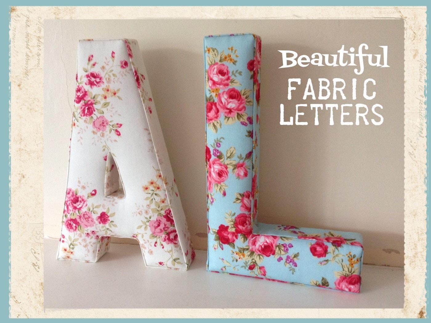 fabric letter wall letter nursery decor kids room initial. Black Bedroom Furniture Sets. Home Design Ideas