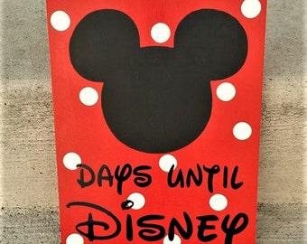 Disney Countdown. wood sign, Chalk, Disney Vacation, Disneyland,  Disney decor