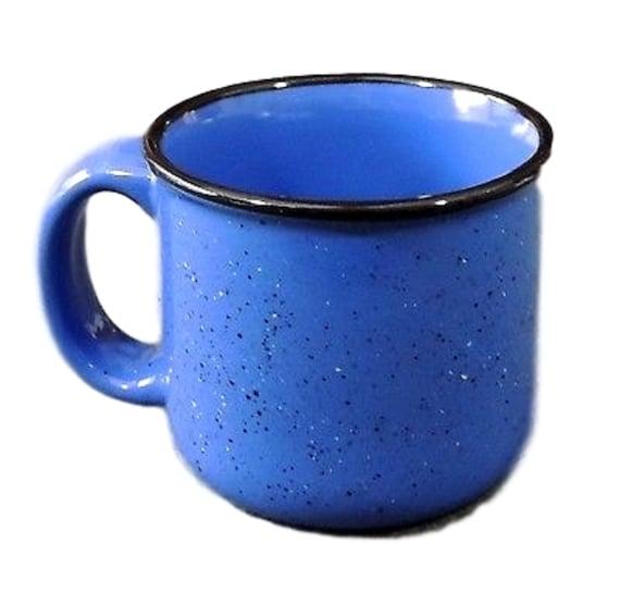 Blue Speckled Coffee Mug, Marlboro Unlimited Coffee Mug Stoneware Vintage Unique Coffee Mug
