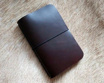 Oxblood York Simple Leather Notebook Cover