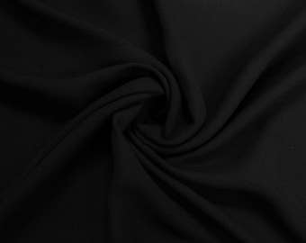"""Black 60"""" Steam Medium-Weight Velour Fabric by the Yard - Style 3092"""