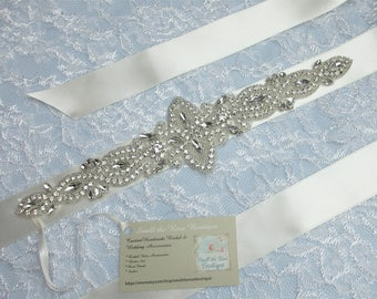 Crystal Rhinestone Bridal Wedding Sash,Bridal Crystal Rhinestone Belt,Wedding Accessories,Bridal Accessories