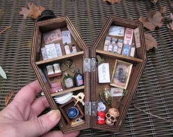 Quack Doctor Miniature Coffin Shadow Box