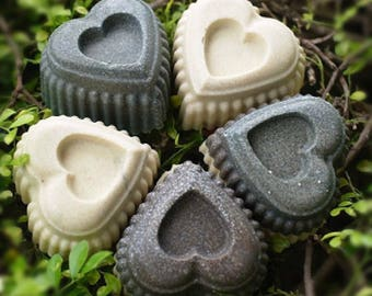 Large 6 Hearts Silicone Soap Molds Cup Cake Chocolate Jelly Pudding Candle Mold Mould