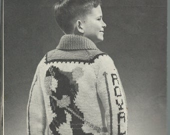 Hockey Knitting Patterns : Knit hockey sweater Etsy