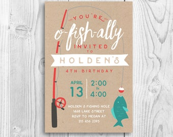 O Fish ally, Printable Birthday Invitation