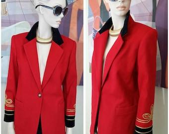 Vintage Blazer  jacket by Fundamental Things Petites 100% wool size 4