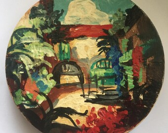 """REX Fifth Avenue Hand Painted Large 4"""" COMPACT"""