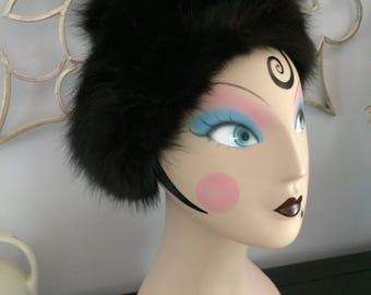 1960s Lord and Taylor Black Fur Hat