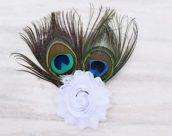 peacock hair clip, peacock feather hair clip, peacock hair bow, peacock wedding hair clip, peacock feather hair bow, peacock flower girl