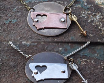 Follow your heart to Montana Necklace