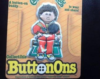 Vintage Cabbage Patch Kids Button on Buddy 1984 Playskool