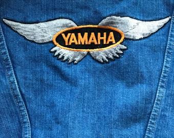 Vintage Wrangler Denim Jacket with Yamaha patches
