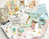 Embellishment Kit / Prima Heaven Sent / Baby Scrapbook Album / Scrapbook Kit / Craft Embellishments / nursery rhymes baby kit