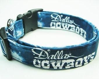 Dallas Cowboys Tie Dye Dog Collar