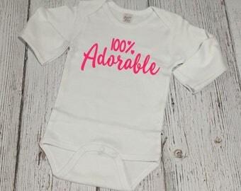 Valentines Day Bodysuit - Baby Valentine - Valentines Day Outfit - Baby Girl Valentine - Valentine Outfit - Valentine Baby - 100% Adorable