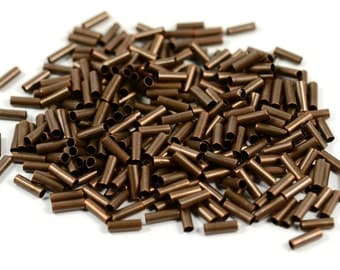 100 Pcs. Antique Copper 2x6 mm Small Tube Spacers