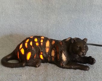 Nightlight - Stained Glass Tiger - Accent Lamp - Cat Lamp