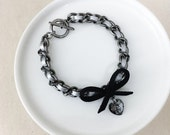 Limited Edition Ombre Bow & Crystal Heart Bracelet