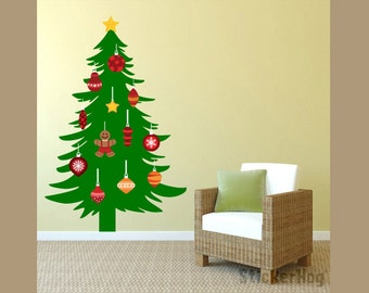 Christmas Tree Pine Tree Silhouette, Living Room, Family Room Vinyl Wall  Decal Graphic 22 Part 6