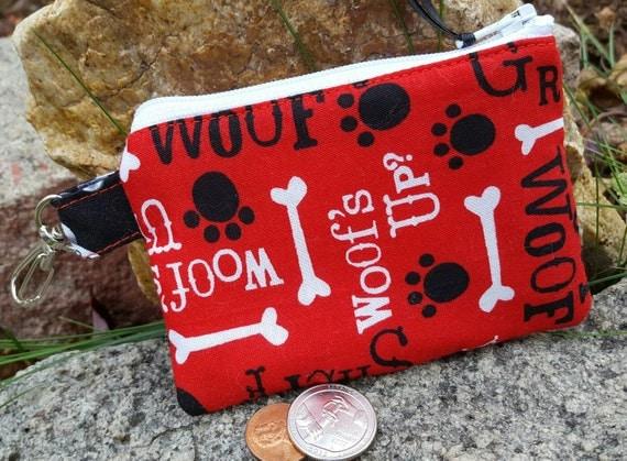 Dog Coin Purse,  Zipper Wallet