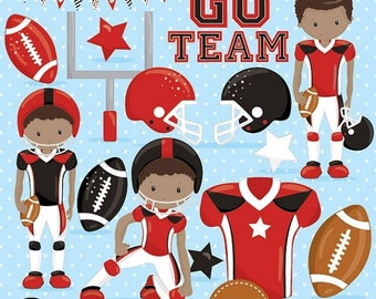 80% OFF SALE American football clipart commercial use, football vector graphics, super bowl digital clip art, digital images - CL1011