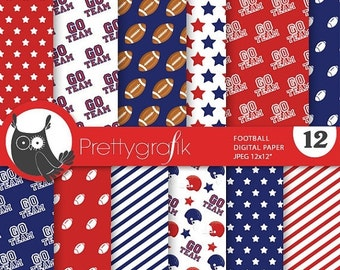 80% OFF SALE Football digital paper, commercial use, scrapbook papers, background chevron, ...