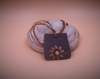 Collana ceramica raku/OOAK collana/regalo per lei/monile raku