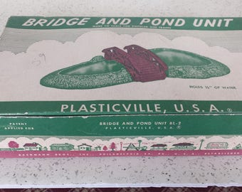 Plasticville Pond and Bridge