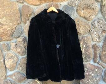 Vintage Fur Coat, XL, Excellent Condition