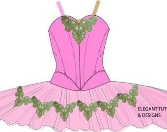 Size 9-11 Childrens stretch tutu pattern PDF