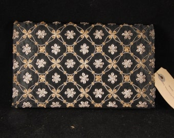 True Vintage Ganeshi Lall & Son Velvet and Intricate Handiwork Fold Over Clutch