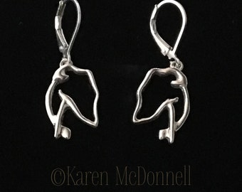 The Golden Hound Jewelry's 'Redsie Sterling Silver Drop Earrings'