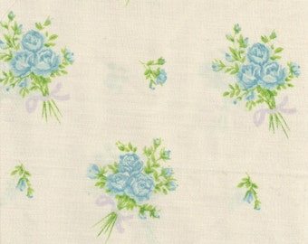 ONE Sweet Vintage Sheet Fat Quarter, Vintage Fabric, Fat Quarter, Shabby Chic, Reclaimed Fabric