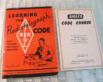 Morse Code Radiotelegraph Radio Operating AMECO American Relay League - 2 Pamphlets included