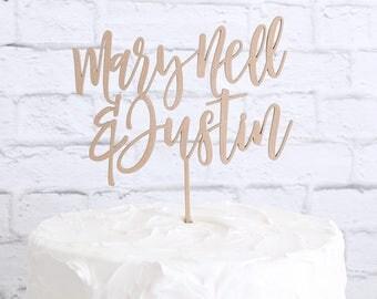 Couple's Name Cake Topper, Custom Wedding Cake Topper, Custom Name Cake Topper, DIY Cake Topper