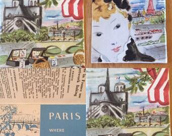 Paris Vintage Travel Book ... Free Shipping