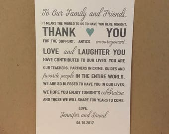 4x6 Thank You Wedding Reception Cards PlaceCards Signs (2)