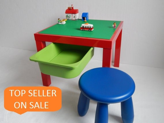 LEGO® Table with Storage and Stool. Large 20x20