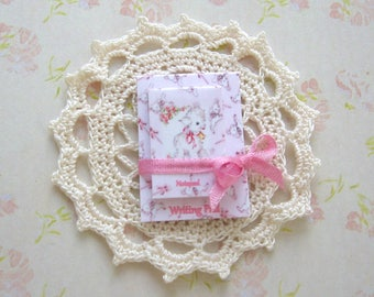 dollhouse vintage lamb  writing pad and notepad 12th scale miniature