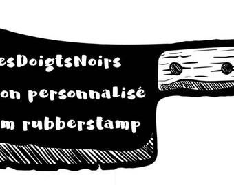 Tampon personnalisé - Votre logo + Moi = votre tampon