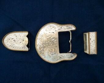 3 Piece Belt Buckle Set