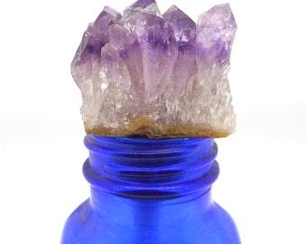 Bottle Topper, Amethyst Crystal Wine Stopper - Wine Bottle, Wine, Stopper, Bottle Stopper, Bottle Topper, Wine Lover, Wine Gift, February