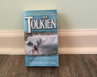 """JRR Tolkien """"Fellowship of The Ring"""" paperback novel"""