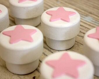 Star Nursery Decor, Pink Kitchen Decor, Light Pink Decor, Pink Knobs,  PinkNursery