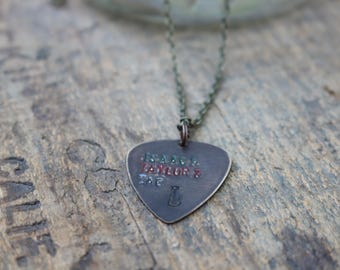 Isaac, Taylor Zac Hanson Guitar Pic Necklace